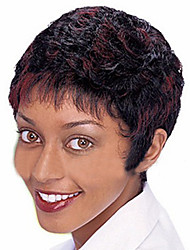 European and American Short Hair Dyed Polyester Wig Personality