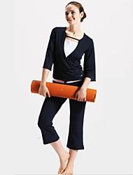 terno yoga com cuidado fácil, alta taxa de recuperação elástica, esticar para 6-7 vezes
