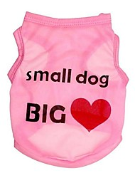 "Dacron Pink/Blue Vest Printed with ""small dog BIG heart""for Pets Dogs (Assorted Colors and Sizes)"
