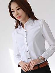 Women's Backside Button Design Solid Color Shirt