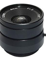 """F1.2 1/3 """"lente de íris fixa ir 12 milímetros de circuito fechado de televisão CCTV lente para câmera de vídeo CCTV de vigilância de segurança"""