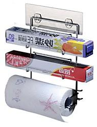 Porte Papier Toilette / Réchauffe Serviette / Chrome / Fixation Murale /23.4*7.8*28.1cm /Acier Inoxydable 211# /Contemporain /23.4cm 7.8cm