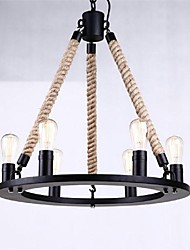 Pendant Light 6 Lights Country Style Wrought Iron