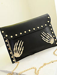 Women Casual PU Button Crossbody & Messenger/Clutches/Evening Bags