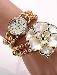 W&Q Fashion Alloy Faux Pearl Watch