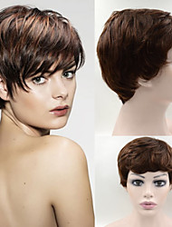 #2/30 6inch Brazilian Hair wig Exquisite Women's Hairstyle wigs Brown Elegant Short Hair Wigs GH07