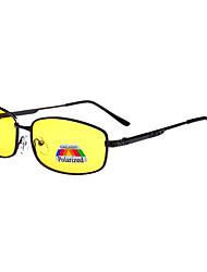 Gafas de Sol hombres's Clásico / Deportes / Moda / Polarizada Rectángulo Amarillo Gafas de Sol / Gafas de visión nocturna Completo llanta