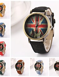 jaque de união das mulheres grande relógio redondo banda quartzo oxford discar (cores sortidas) c&D227