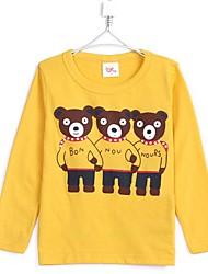 Girl's Fashion New Little Bear Long Sleeve Tees