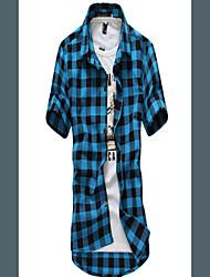 Don Fashion Classical Check Short Sleeve Shirt