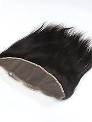 """1pcs / lot 14inch 13 """"x4"""" fermeture de cheveux naturelle brésilienne vierge de cheveux humains dentelle frontale fermeture droite"""