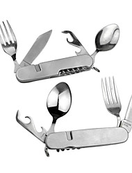 Multi-functional Foldable Flatware Set for Outdoor Picnic 2 pcs /set