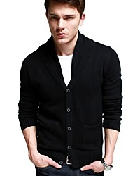 Men's Turn Down Collar Trendy Cardigan Knitted Sweater
