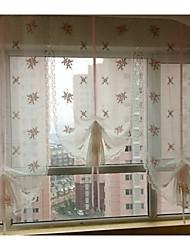 "un panel de 32 ""wx90"" l (82cmwx230cml) floral bordado multicolor botánico poli / borde perforado ropa de imitación pura / /"