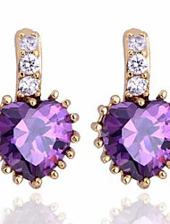 Women's Fashion High Quality Heart Zircon Earring(More Colors)