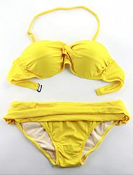 Bikinis ( Nilón/Poliéster )- Sostén Con Alambre Inferior - Sin mangas para Mujer