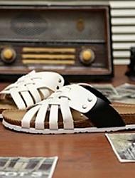 Men's Shoes Casual Leatherette Sandals Blue/White