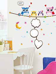 Wall Stickers Wall Decals, Style Cartoon Owl PVC Wall Stickers