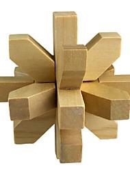 forma flor de ameixa desbloqueado madeira brinquedos educativos