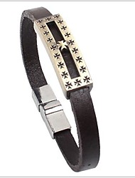 Tina -- Fashion Vintage Alloy Accessory Leather Bracelet in Daily
