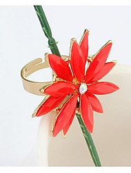 Tina -- European and American Resin Flower Ring in Party (1 Pc)
