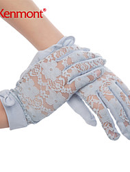 2015 Kenmont Spring Summer New Women Fashion Sexy Lace Comfortable Cotton Party Lady Gloves Free Size 2969