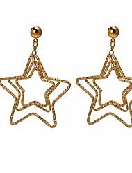 Women's Fashion Personality Multiple Hollow Star Earrings