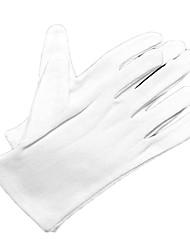 белые хлопчатобумажные перчатки для водителя, актер (12шт)