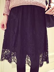 Women's Casual Eyelash Lace Graceful Maxi Skirts