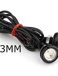 1Pair Car Lights 3W 2.3mm Eagle Eye Car Led Light Daytime Running Light DRL Lamp Fog tail Lamp