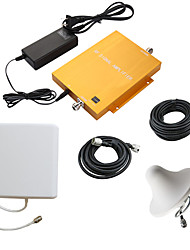 Gold GSM900MHz WCDMA2100MHz Dual Band Phone Signal Booster Repeater with Panel and Ceiling Antennas