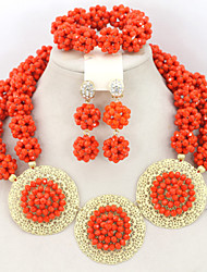 Nigerian Wedding Bridal Jewelry Set African Beads Jewelry Set