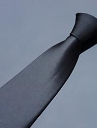 polyester couleur unie cou formelle cravate des hommes xinclubna (10cm, 1pc)