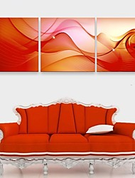 e-FOYER étiré conduit toile effet print art couleur illusion flash LED clignotant ensemble de trois d'impression de fibre optique