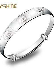 De joyshine damesmode S999 duizenden mooie zilveren vijf zegenen meisje sterling zilveren armband 30g