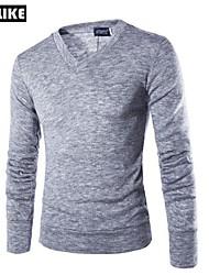 RUILIKE®Men's Shirt Collar Cotton Casual Long Sleeve Shirt