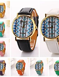 Women Blue Streak Pu Leather Diamond Brand Luxury Lady Bracket Dress Wristwatch C&D-192