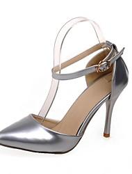 Chaussures Femme - Habillé - Noir / Rouge / Argent - Talon Aiguille - Talons / Bout Pointu - Talons - Cuir Verni