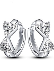Stud Earrings Women's Silver/Cubic Zirconia Earring Cubic Zirconia