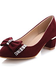 Women's Shoes Chunky Heel Pointed Toe Pumps with Bowknot Shoes Dress More Colors available