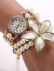 Relogios Femininos  Quartz Watch Wristwatch Pearl Luxury Brand Fashion Women Designer Brand Rose Flower New Fashion
