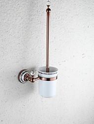 subiu banheiro acessórios de titular escova de vaso sanitário de bronze do ouro