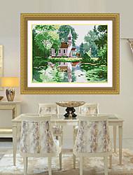cênica do ponto da cruz paisagem asia diamante transversal da parede da agulha sudeste ponto a decoração da casa 41 * 52 centímetros