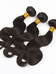 "3pcs/lot 8""-28"" Unprocessed Brazilian Body Wave Virgin Hair Wefts Natural Color Raw Remy Human Hair Weave Bundles"
