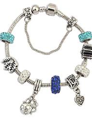 Women's EU&US Cute Exquisite Pattern Rhinestone Beads Purse Heart Pendant Wrist Chain Bracelets