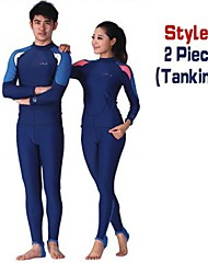 DiveSail UPF 50+ Lycra Diving Skin Suits Anti-UV Wear Swim Snorkeling Surf Water-ski  2 piece Tankinis For Men Women