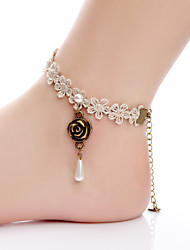 Lace Anklet New Female Foot Ring Rope