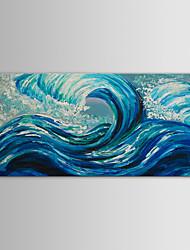 iarts pintura a óleo ondas azul oceano paisagem moderna mão telas pintadas com quadro esticado