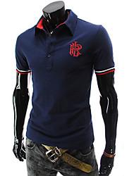 Männer klassische Stickerei Kurzarm-Polo-T-Shirt