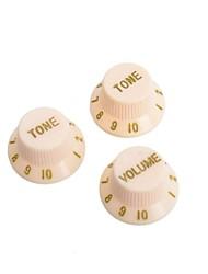 Yellow & Golden Guitar Speed Control Knobs Buttons Pot Cap for Electric Guitar 50SET/LOT (1 Volume & 2 Tone A Set)